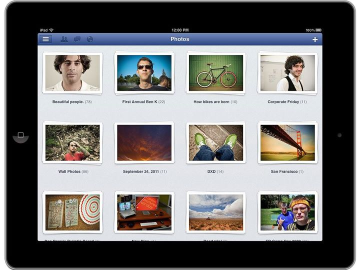 facebook ipad photos albums