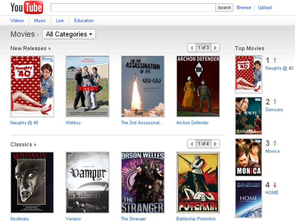 How to watch Movies in Youtube for free online