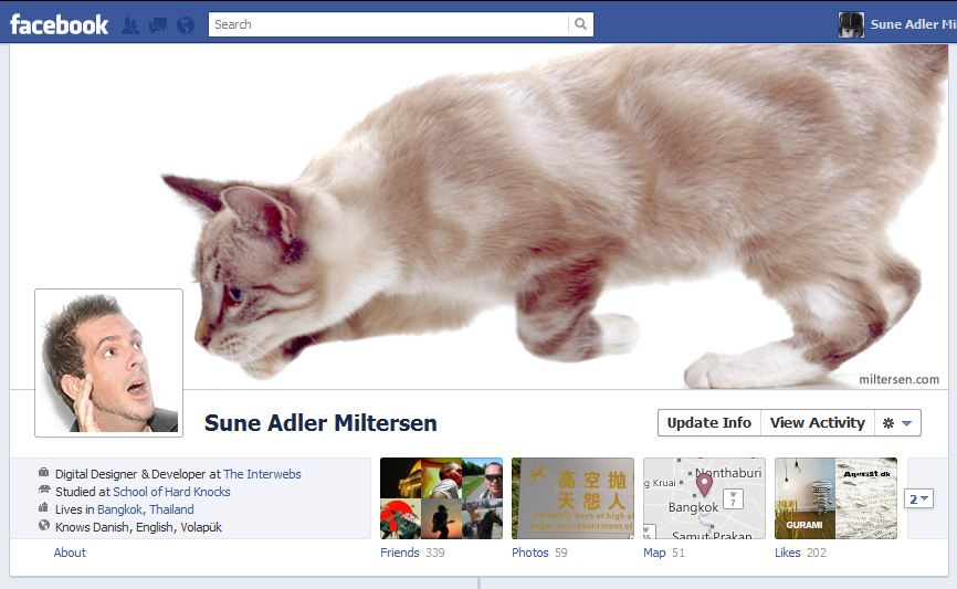 facebook cover design - Sune Adler Miltersen - Big bad pussy cat