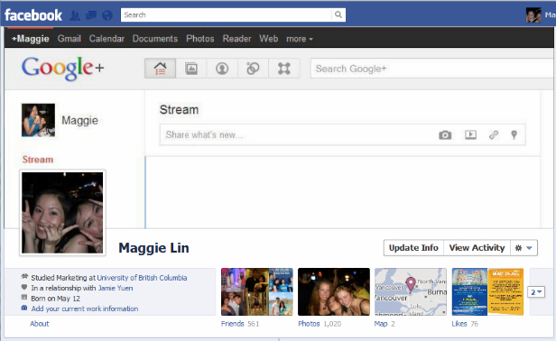 Facebook Cover design - Maggie Lin - Google Plus