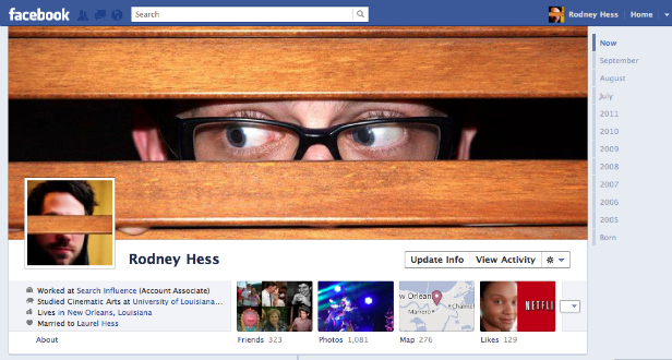 Facebook Cover Design - Rodney Hess - Eyes