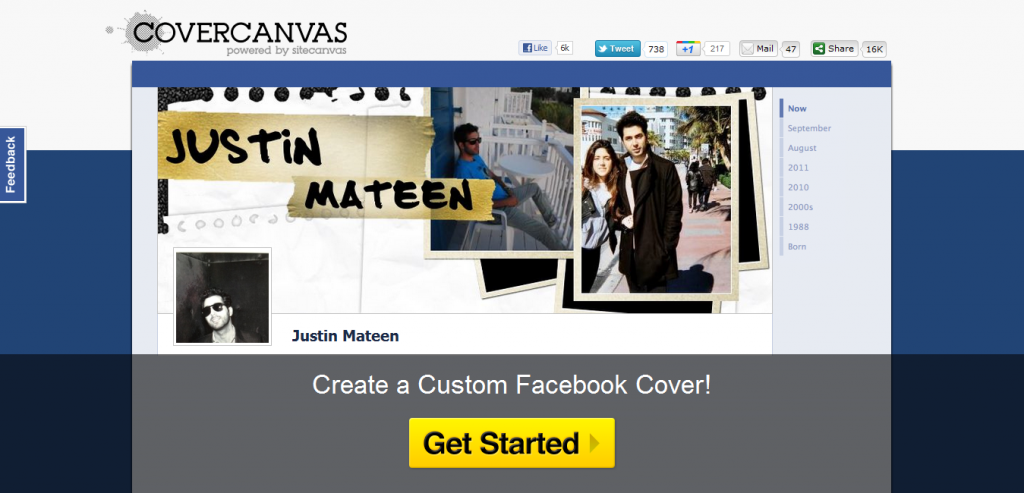 CoverCanvas Facebook Cover Creator