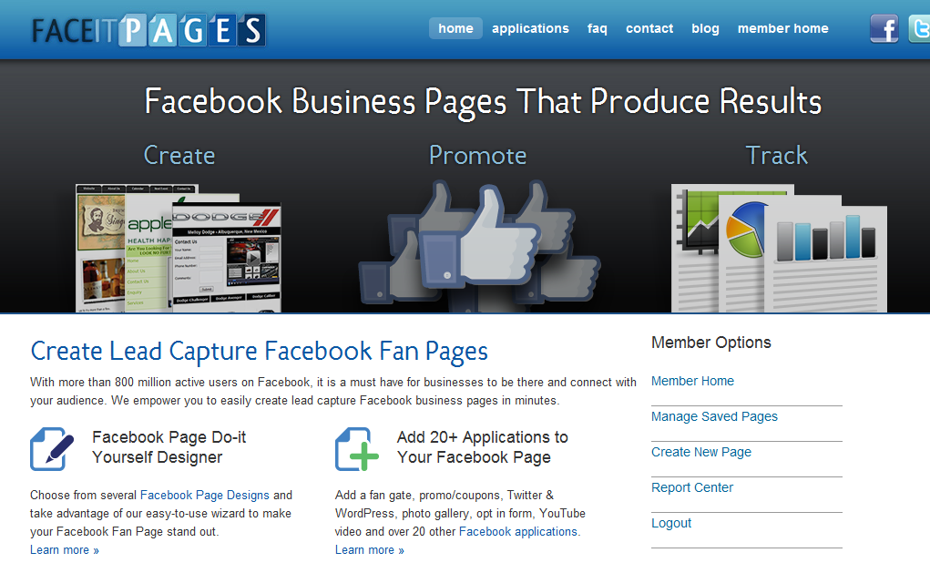 Create a Facebook Timeline Cover in minutes with the FaceItPages cover creator app.