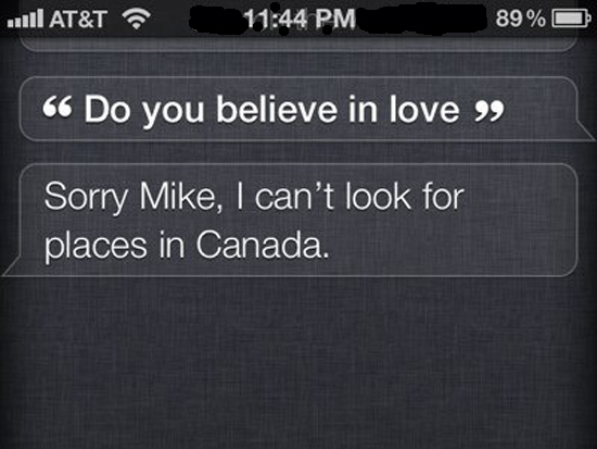 """Funny reply by Siri on """"Do you believe in love"""" how to make siri say funny things"""