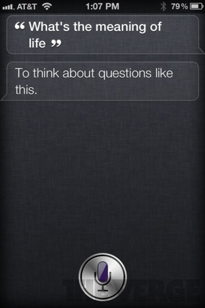 """Another cool reply from iphone app Siri on """"What is the meaning of life"""""""