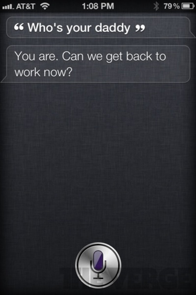Funny reply from Siri Application by Apple