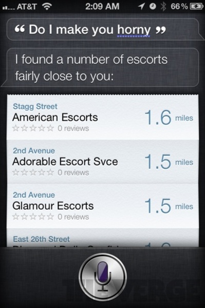 """Siri Weird and funny answer on the question """"Do I make you horny"""""""