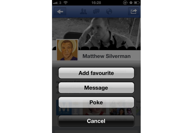 Poke your friends easily using the facebook official iPhone 4 Application