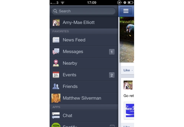 Add a Friend to Your Favorites - Facebook application for iphone 4s