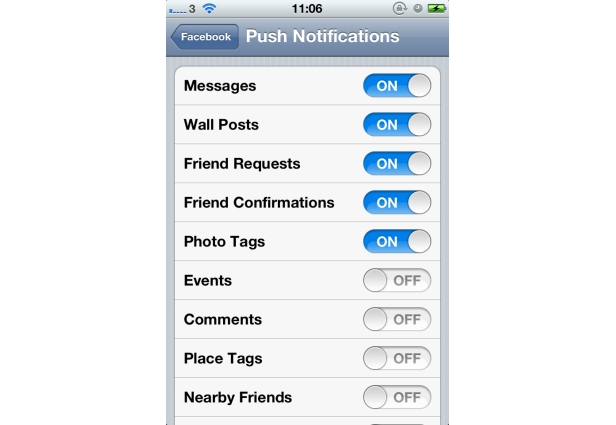 how to delete facebook notifications on iphone app