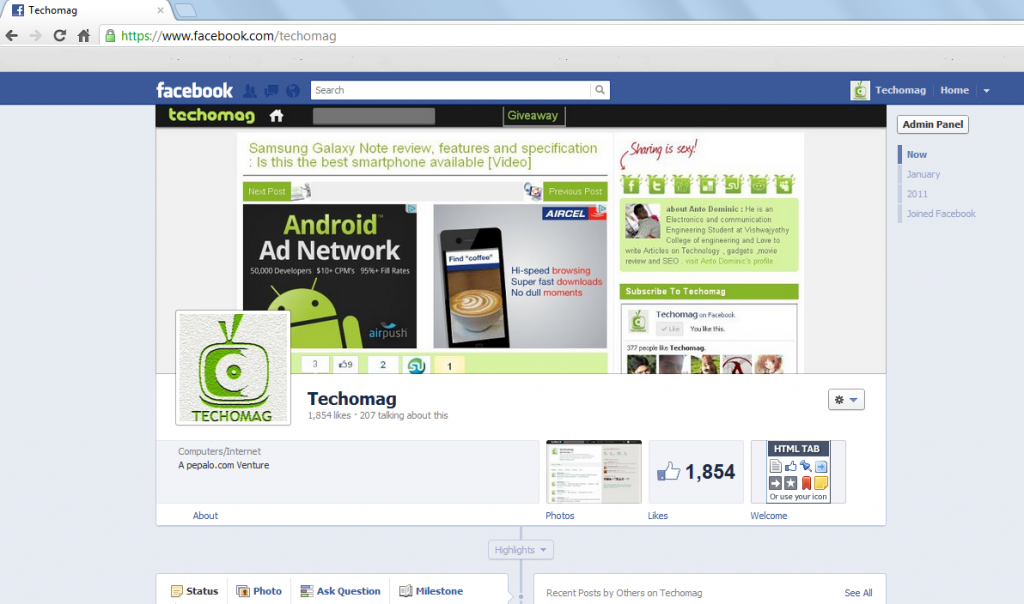 how to change look of facebook page