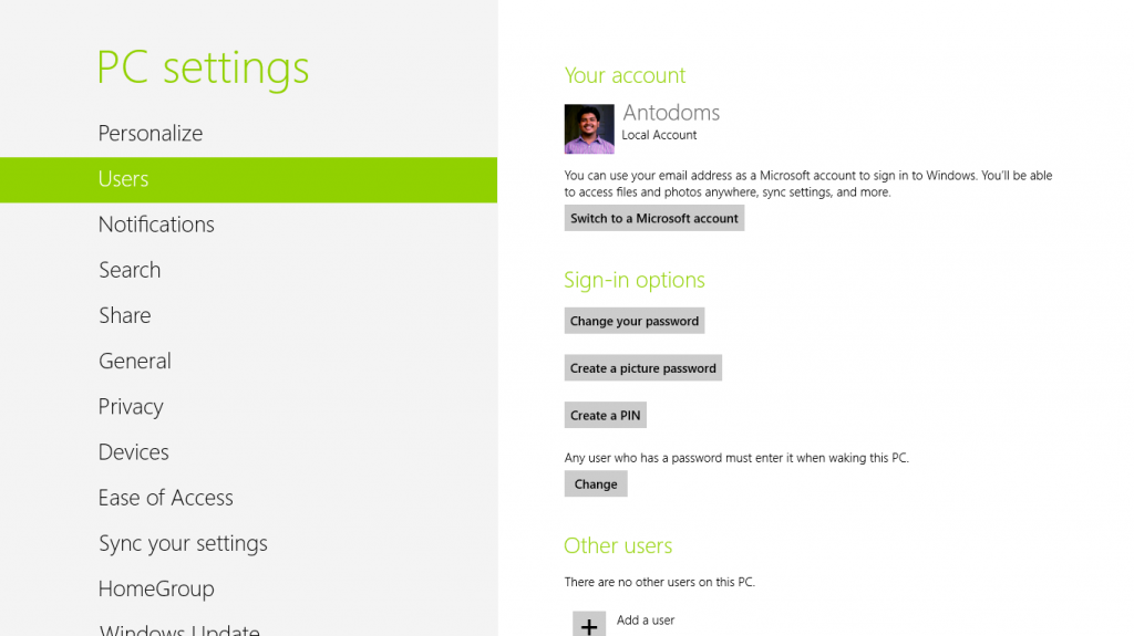 windows 8 pro - new personalised control Pannel