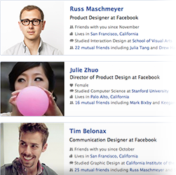 facebook graph search: searching people