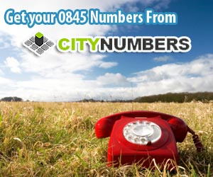 0845 numbers from citynumbers