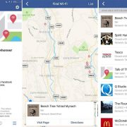 Find Wi-Fi feature on Facebook
