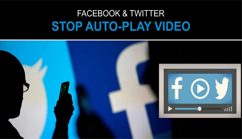stop autoplay videos on Facebook and Twitter