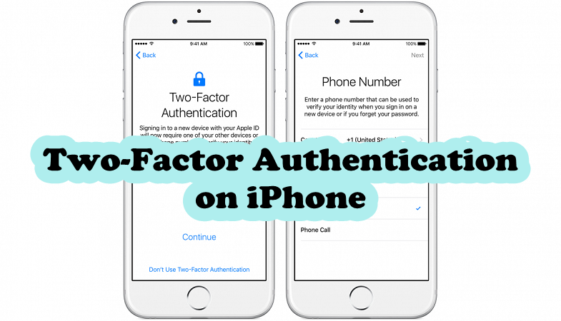 two-factor-authentication iphone
