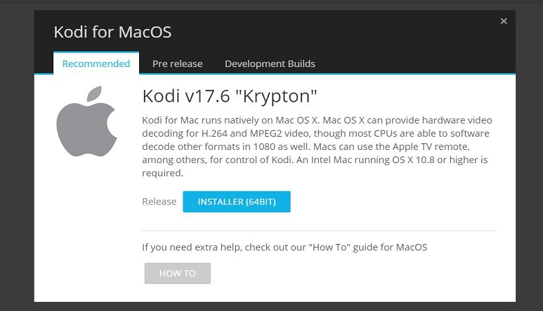 Download Kodi for Mac