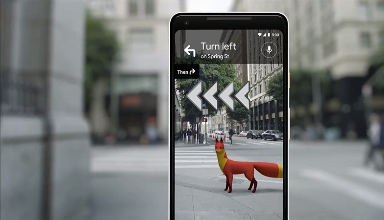 Google Maps AR features and Assistant